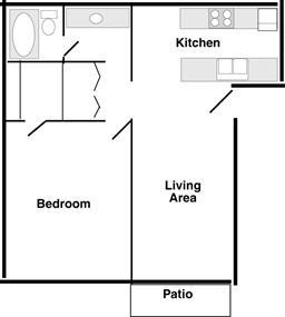 Fireside East (1 Bedroom)