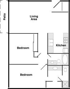 Fireside East  (2 Bedroom)
